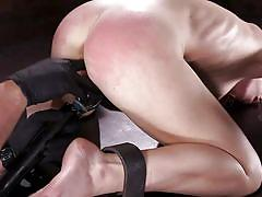bondage, bdsm, spanking, domination, vibrator, fingering, brunette, from behind, pussy rubbing, device bondage, kink, serena blair