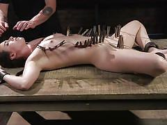 Mean master uses clothespins on this lovely beauty