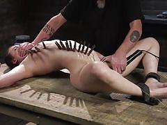 bdsm, slave, domination, master, vibrator, breathplay, tied up, clothespins, device bondage, kink, casey calvert, the pope