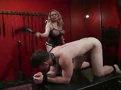 milf, blonde, femdom, bdsm, big tits, torture, whipping, mask, nipple clamps, device bondage, divine bitches, kink, aiden starr, rick fantana