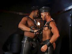 black, bdsm, handjob, leather, bbc, ass licking, domination, bound gods, kink men, dillon diaz, ace rockwood