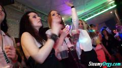 Nasty amateur sluts harpooned on the dance floor
