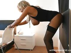 Wifey fucked by big black cock and swallows cum
