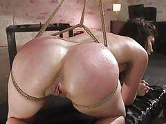 milf, anal, bdsm, round ass, whipping, domination, crying, tied up, from behind, sex slave, spread legs, nipple clamps, rope bondage, sex and submission, kink, seth gamble, juliette march