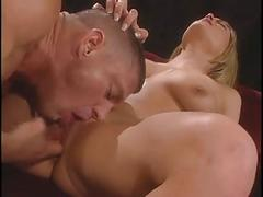 Blonde stripper likes a big cock