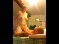 Amateur blonde bedroom fuck