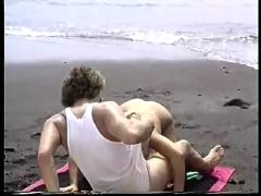 anal, cumshot, blonde, outdoor, blowjob, shaved, beach, pussyfucking