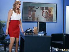 milf, blonde, big tits, interracial, high heels, blowjob, caught masturbating, office sex, pussy eating, pussy rubbing, bbc, big tits at work, brazzers, isiah maxwell, brett rossi