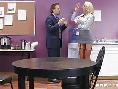 milf, blonde, handjob, big tits, boss, big cock, deepthroat, office sex, nipple sucking, big tits at work, brazzers, tyler nixon, nicolette shea