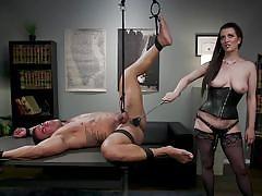 Busty mistess likes to humiliate