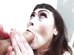 Audrey gets fucked against the wall
