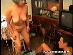 Mother wants a treat - caught watching porn
