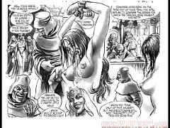 Masterpiece of bondage sex orgy comic