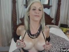 Cock sucking and ass fucking for slutty milf