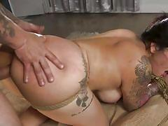 bdsm, big ass, big tits, babe, big cock, whipping, rimjob, domination, pussy licking, tattooed, from behind, rope bondage, sex and submission, kink, mr. pete, carolina cortez