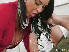 milf, handjob, big tits, big cock, blowjob, pussy licking, brunette, milfs like it big, brazzers, rita daniels, keiran lee