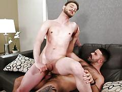 twink, gay, cumshot, from behind, anal, cock riding, beard, jerking off, drill my hole, men.com, teddy torres, stig anderson