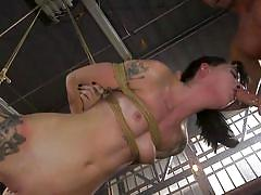 Charlotte sartre was bound, punished and fucked