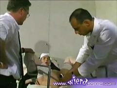 French nun speculum and enema play