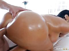 milf, handjob, big ass, big cock, deepthroat, busty, oiled, brunette, from behind, riding cock, ball sucking, reverse cowgirl, big wet butts, brazzers network, van wylde, sybil stallone