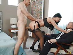 milf, cuckold, round ass, cheating, big boobs, brunette, cowgirl, from behind, riding cock, husband watches, cock sucking, sexy lingerie, real wife stories, brazzers network, charles dera, jasmine jae