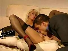 Sexy blonde fucked