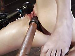 Victoria voxxx hangs upside down and screams in pleasure