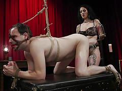 Loser slave gets ass fucked hard