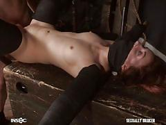 bondage, bdsm, babe, torture, redhead, fucking, pussy fingering, nipple pinching, stretched, sexually broken, jesse dean, kate kenzi