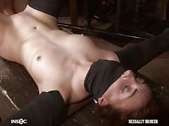 Kate gets fucked with her arms and legs bound