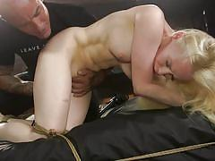 blonde, bdsm, babe, deepthroat, punishment, domination, long hair, pussy rubbing, rope bondage, sex and submission, kink, derrick pierce, natasha james