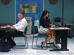 milf, handjob, big ass, big tits, big cock, deepthroat, office, pussy licking, fingering, on table, big tits at work, brazzers, charles dera, romi rain