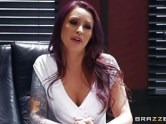 milf, handjob, big tits, big cock, office, blowjob, face fuck, fingering, tattooed, from behind, pussy eating, big tits at work, brazzers, bambino, monique alexander
