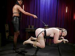 Female slave must worship shemale cock