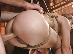 blonde, bdsm, babe, big cock, domination, face fuck, from behind, sex slave, suspended, rope bondage, kink, cadence lux, charles dera