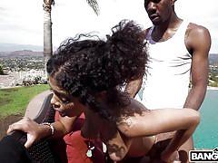 When a black girl meets a huge black cock