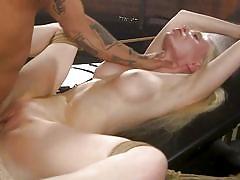 blonde, bdsm, big tits, babe, rough sex, domination, whipped, fingering, tattooed, choking, rope bondage, hard fucking, sex and submission, kink, derrick pierce, natasha james