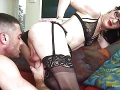 blowjob, high heels, rimjob, sex slave, from behind, feet licking, transexual, crawling, submission, ts seduction, kink, lance hart, stefani special