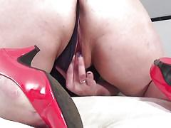 Bbw mature enjoyed solo session with sex toys