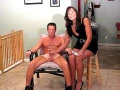 Cfnm post orgasm torture handjob