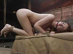 bdsm, babe, punishment, domination, ass fingering, dungeon, from behind, sex slave, ball gag, rope bondage, kink, maya kendrick, derrick pierce