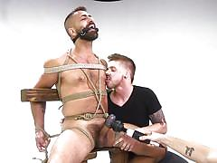 Adam ramzi gets tortured by two horny guys