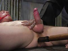 ball gag, ass fingering, bdsm, handjob, rope bondage, anal insertion, deepthroat, domination, anal dildo, men on edge, kink men, cody winter
