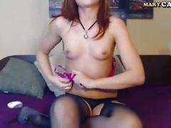 Hot amateur girl masturbate on webcam