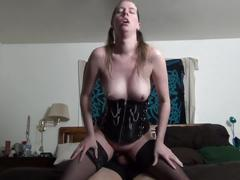 Dirty talking milf riding cock