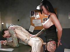 milf, facesitting, anal, femdom, strapon, big tits, mistress, pussy licking, tattooed, hairy pussy, from behind, sex slave, divine bitches, kink, ruckus, lily lane