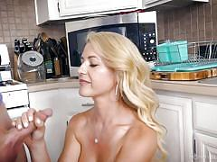 milf, handjob, big tits, big cock, blond, kitchen, ball sucking, pov, mommy blows best, myxxxpass, alex jett, kit mercer