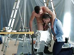 seduction, blowjob, at work, gay undressing, muscular gays, drill my hole, men.com, paddy o'brian, theo ford