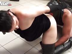 Slave in the gyno chair clean