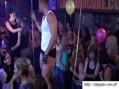 Hot strippers dancing with drunk girls